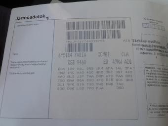 Skoda Fabia kombi 1.2